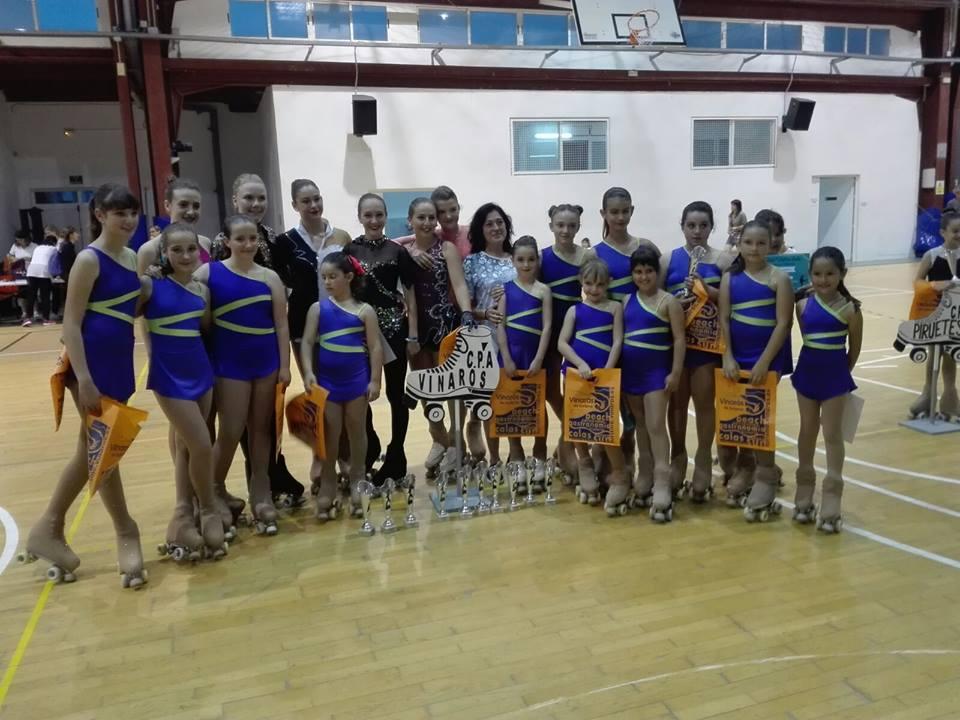 Vinaròs, el Club de Patinatge Artístic va celebrar dissabte el Trofeu Interclub Primavera 2017