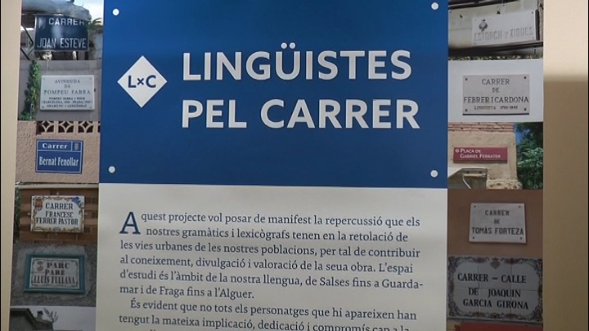 La biblioteca de Vinaròs acull la mostra Lingüistes pel carrer