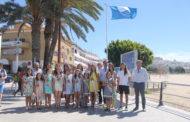 Peñíscola; hissada de les banderes blaves a les platges nord i sud de Peñíscola 01/07/2017