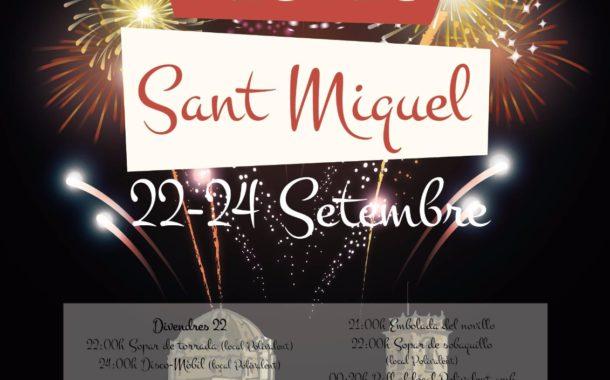Canet lo Roig celebrarà a partir de demà les festes de Sant Miquel