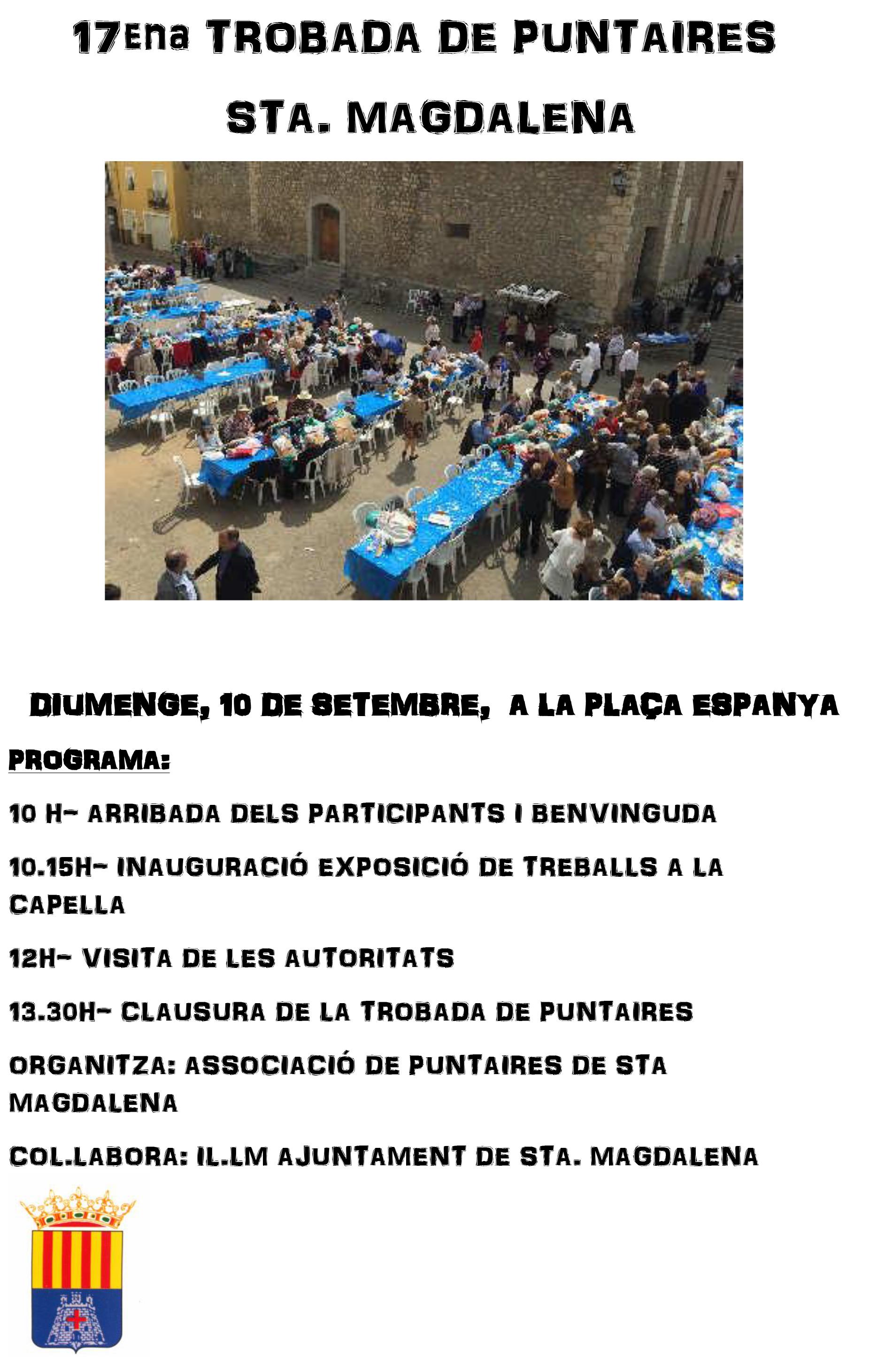 Santa Magdalena acollirà dissabte la 17a Trobada de Puntaires