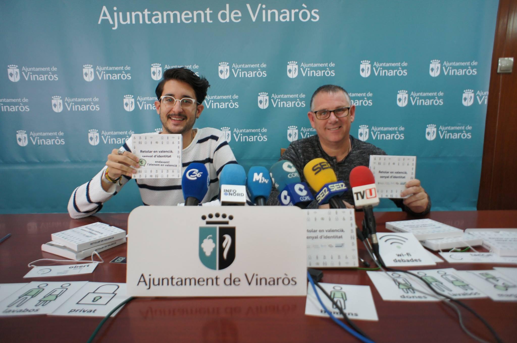 Vinaròs, l'Ajuntament posa en marxa una campanya de foment del valencià als comerços