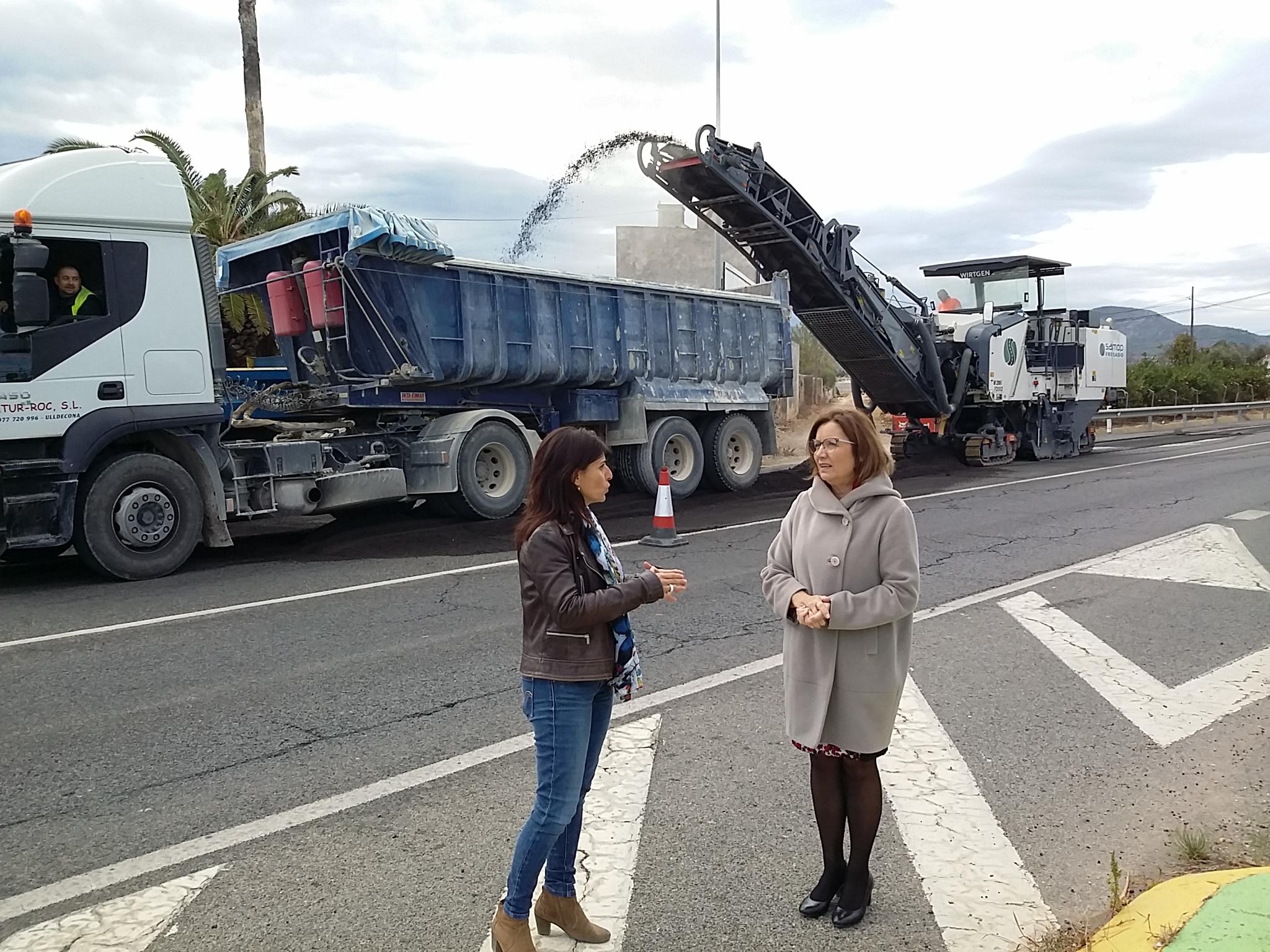 Benicarló, el Govern Central inicia l'asfaltat de l'antiga N340