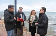 Alcalà, la consellera Cebrián visita les obres de millora de la xarxa de sanejament d'Alcossebre