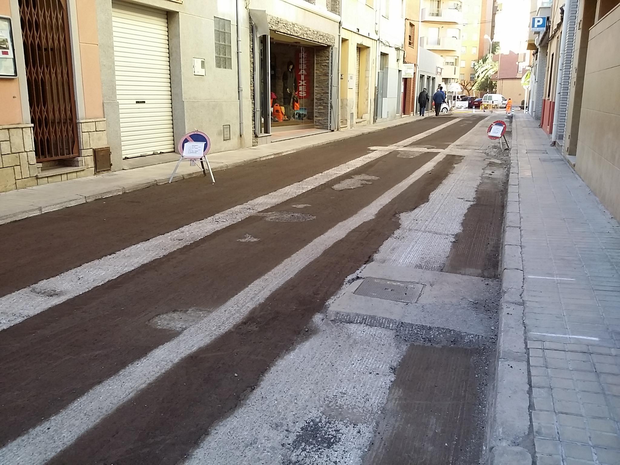 Benicarló, comencen les obres d'asfaltat als carrers del nucli urbà