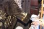 Benicarló; tradicional embolicà de coquetes de Sant Antoni 08/01/2018