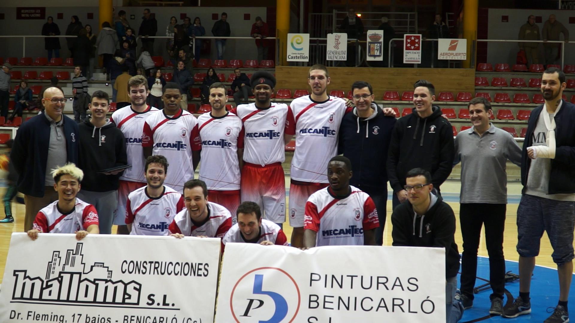 El Club Bàsquet Benicarló suma una nova victòria, 86-50, davant del Jo Soc
