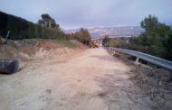 Rossell, les obres de reparació de la carretera CV100 finalitzaran en dos mesos