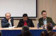 """Vinaròs; presentació del llibre """"Los proyectos de ferrocarriles hasta el Puerto de Vinaròs"""" de Miquel A. Baila 16-02-2018"""