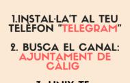 Càlig, l'Ajuntament posa en marxa un nou canal de comunicació a través de l'aplicació Telegram