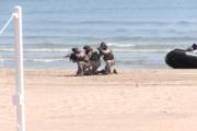 Peníscola; Demostració Amfíbia de la Guàrdia Real. Simulacre de maniobra militar. A la Platja Nord de Peníscola 21-04-2018