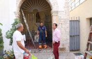 Peníscola, les brigades municipals reparen la capella de Santa Ana