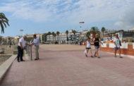 Peñíscola. Visita a les obres de millora de l'accesibilitat al Passeig Marítim, Punt Accesible i nova pista de Skate Park 26/06/2017