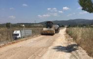Les Coves de Vinromà repara la via de servei de la carretera CV-10