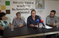 Benicarló; roda de premsa de l'Associació de Veïns de les Partides Riu, Surrach i Aiguaoliva 18/10/2017