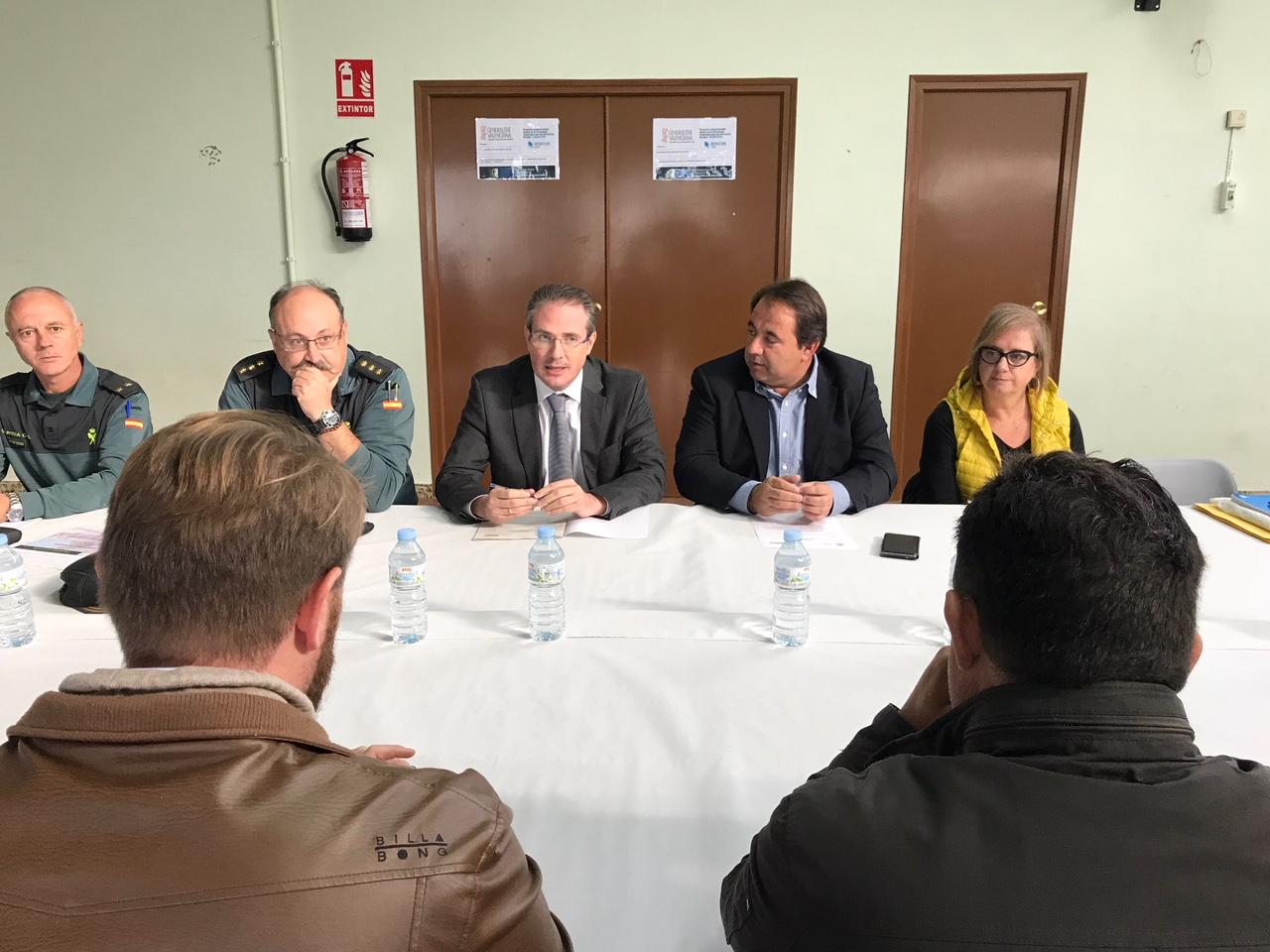 Baix Maestrat, la subdelegació del Govern celebra la Junta de Seguretat a Sant Rafel del Riu