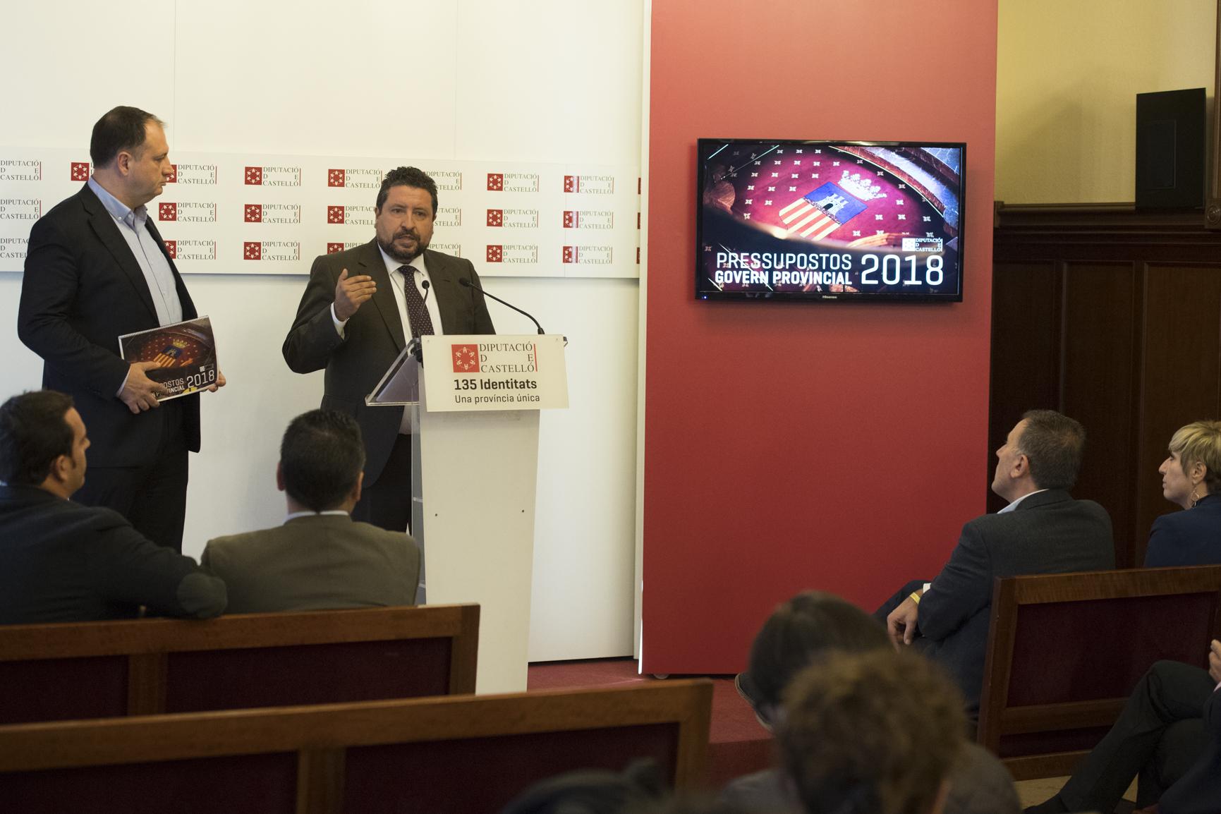 La Diputació presenta els nous pressupostos amb la xifra rècord de 135 milions d'euros