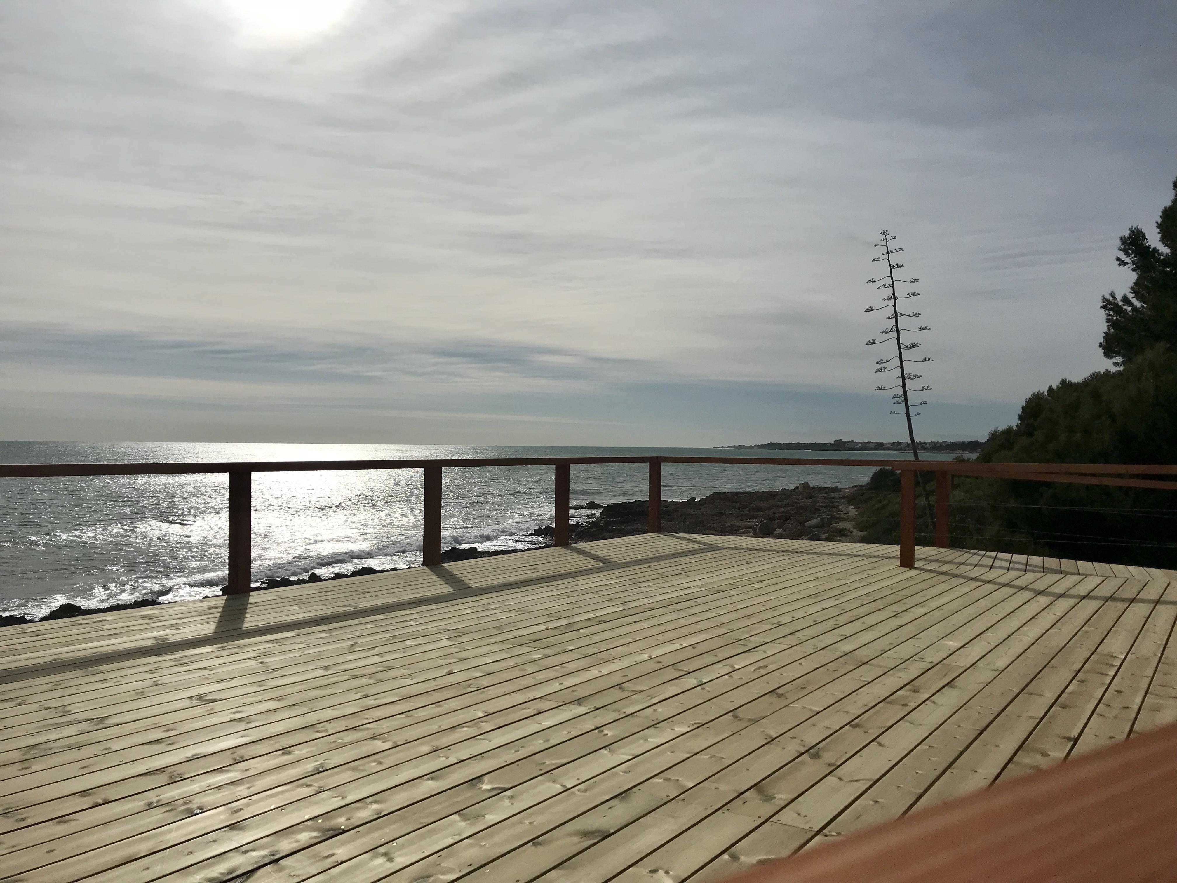 Alcalà, finalitzen les obres de construcció del mirador del Camí L'Atall a Alcossebre