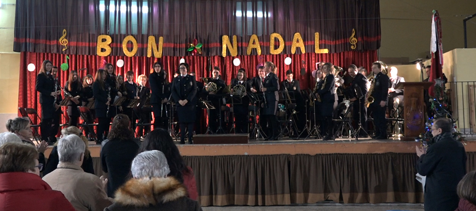 Cervera, la Unió Musical de Santa Cecília va oferir diumenge el tradicional concert de Nadal