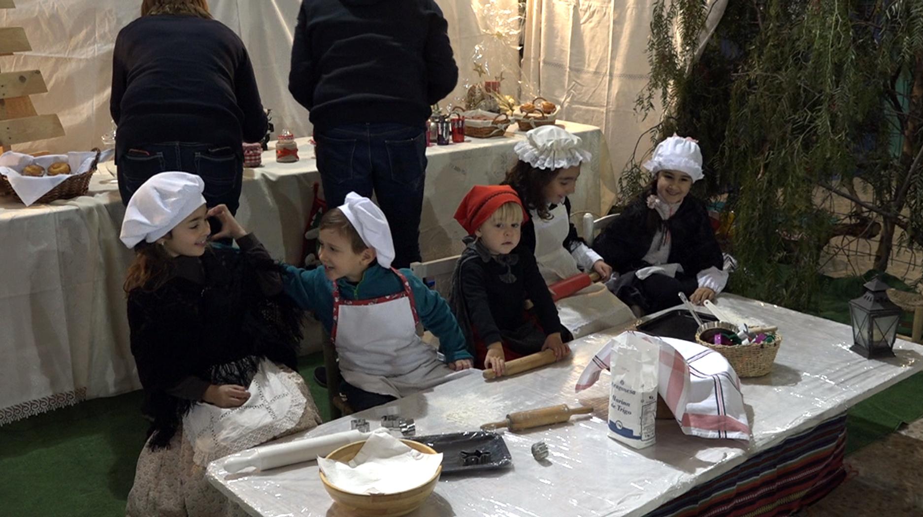 Cervera del Maestrat, els xiquets celebren el Pessebre Vivent