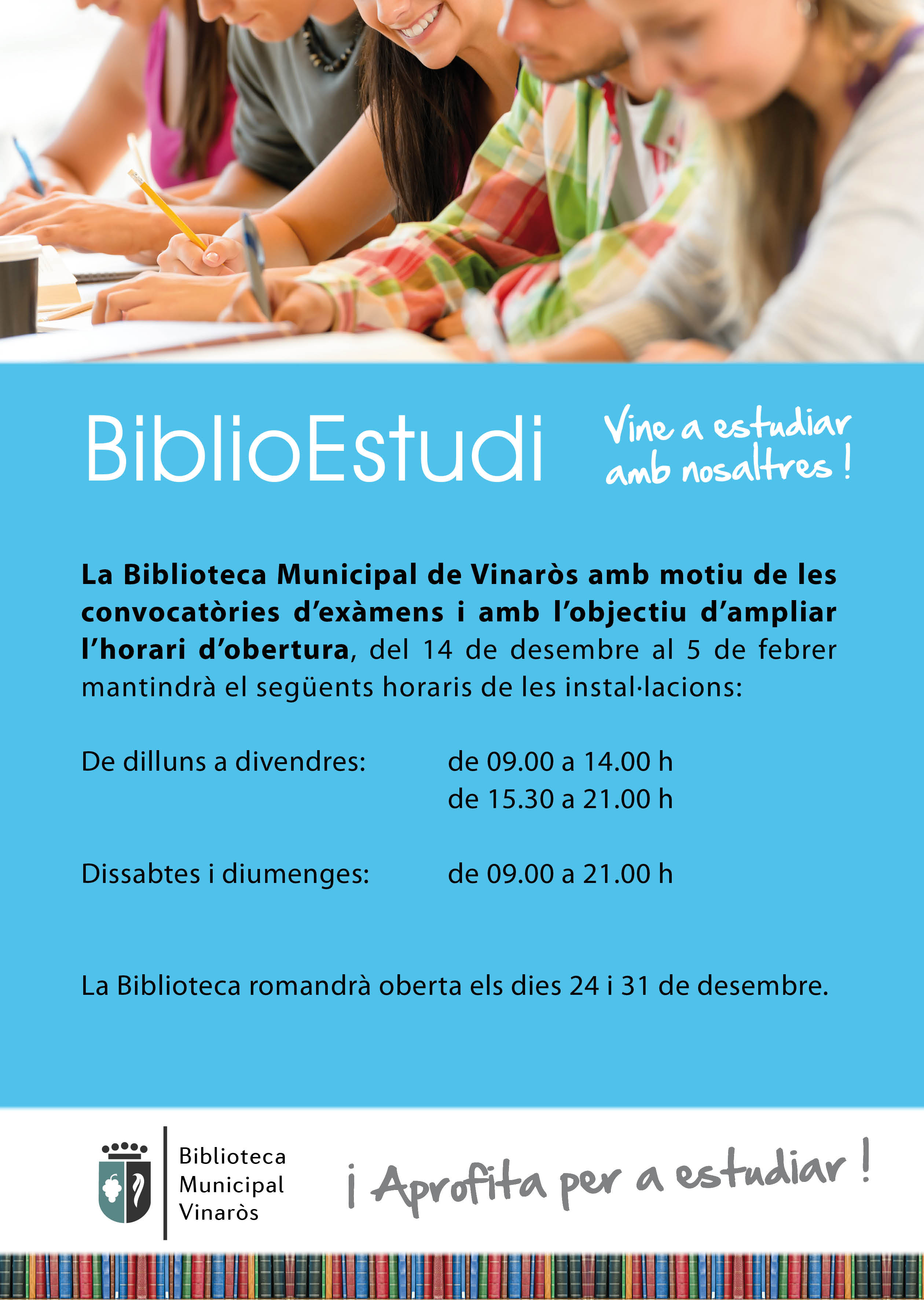 Vinaròs, la Biblioteca amplia l'horari fins al 5 de juliol