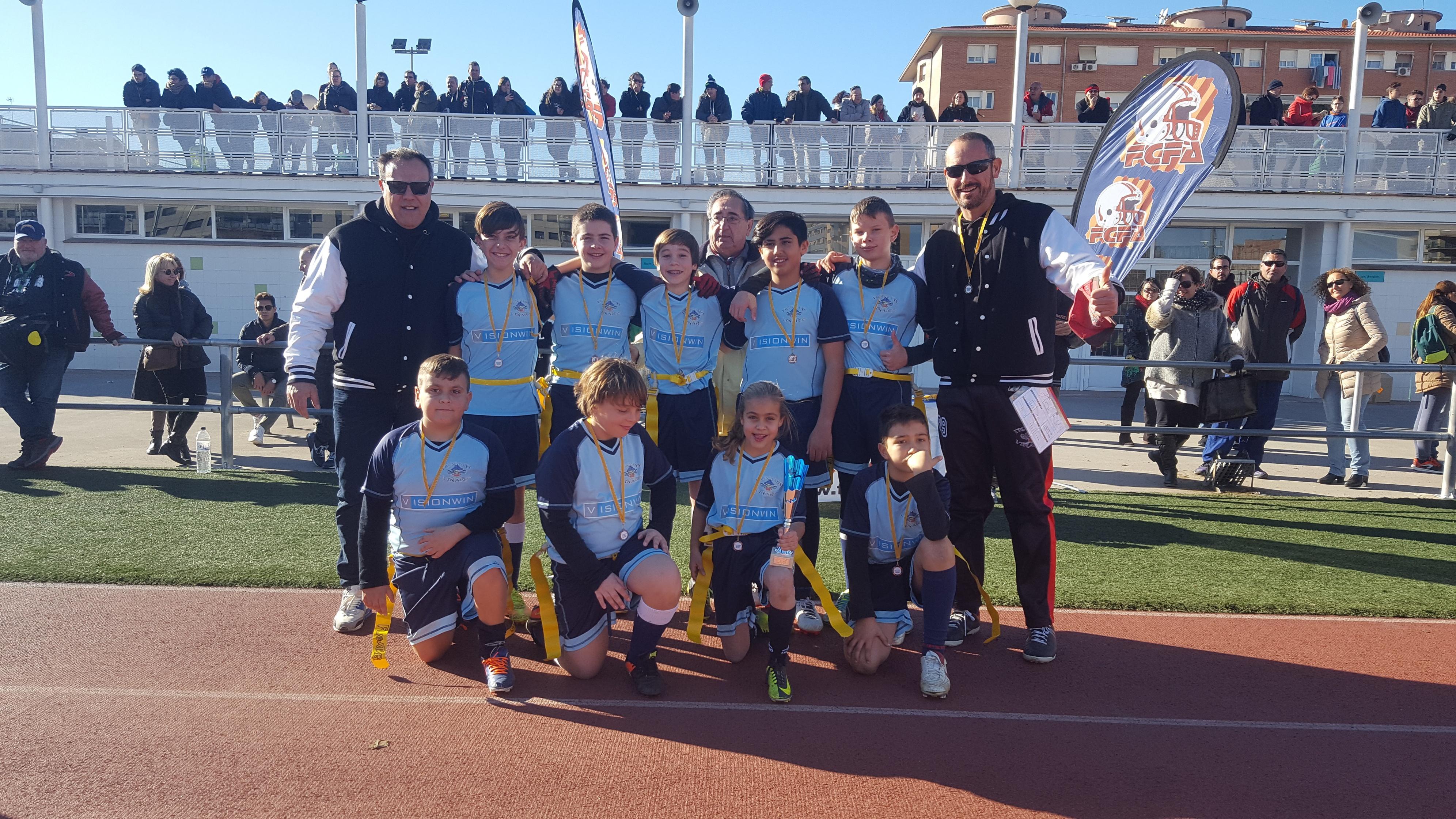L'Iromans de Vinaròs es proclama campió de la Copa Catalana de Futbol Flag Sub-13