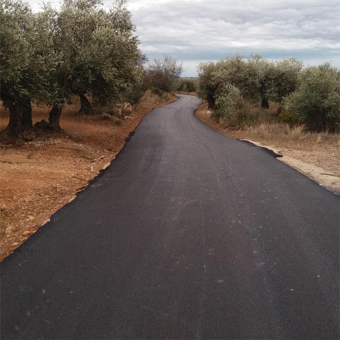Rossell, acaba la primera fase de les feines de reparació dels camins rurals