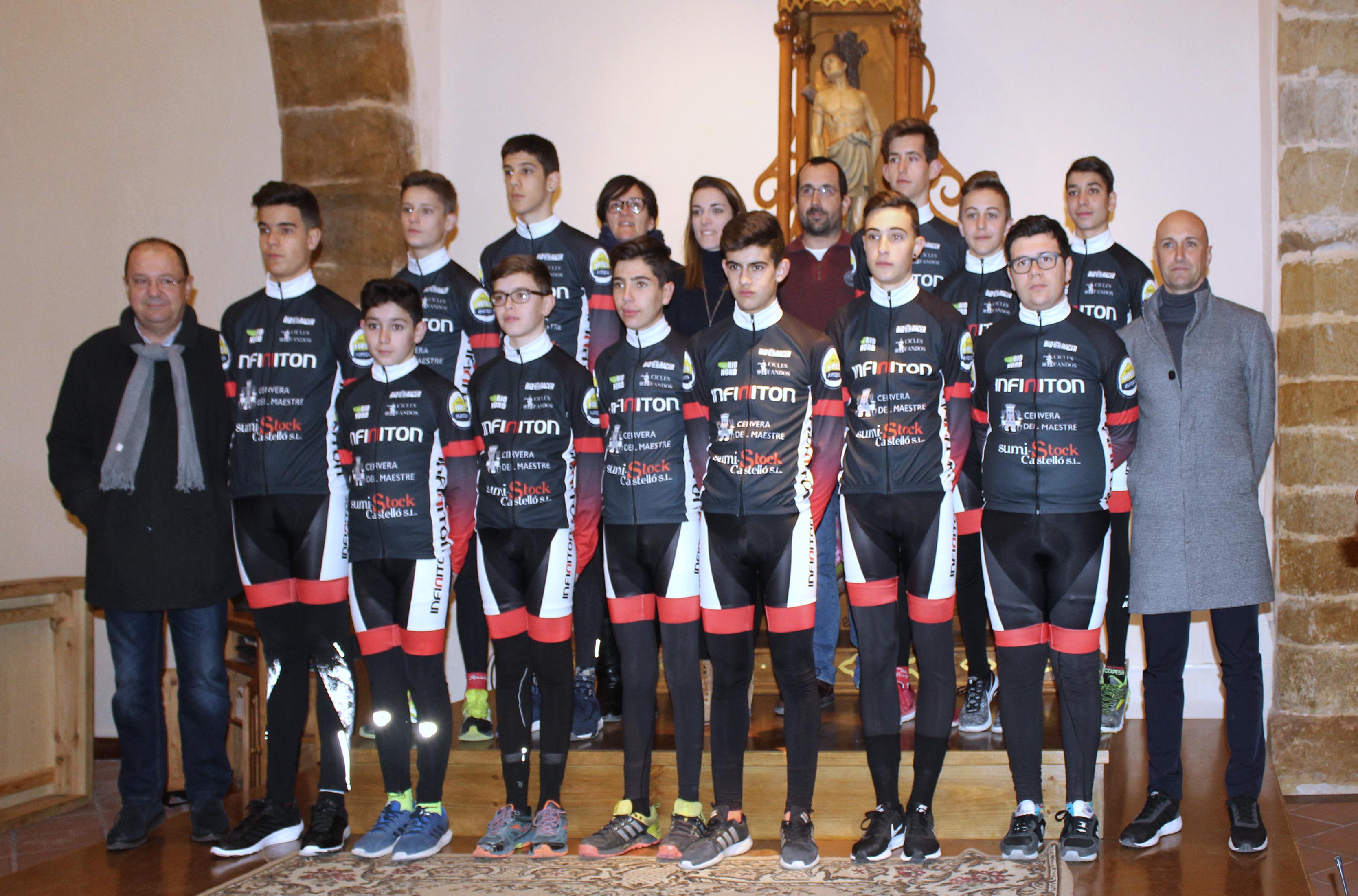 Cervera del Maestrat, es presenta el nou equip del Club ciclista Hiper Europa Infiniton Cervera Sumistock