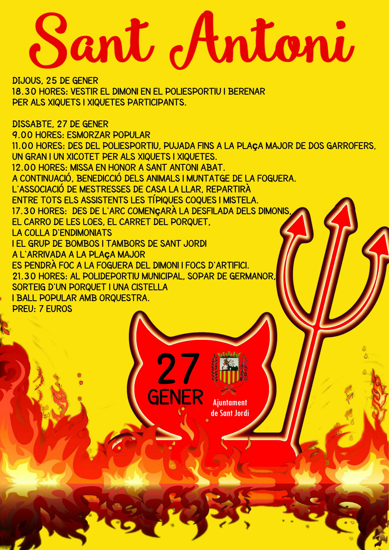 Sant Jordi celebrarà la festa de Sant Antoni l'últim cap de setmana de gener