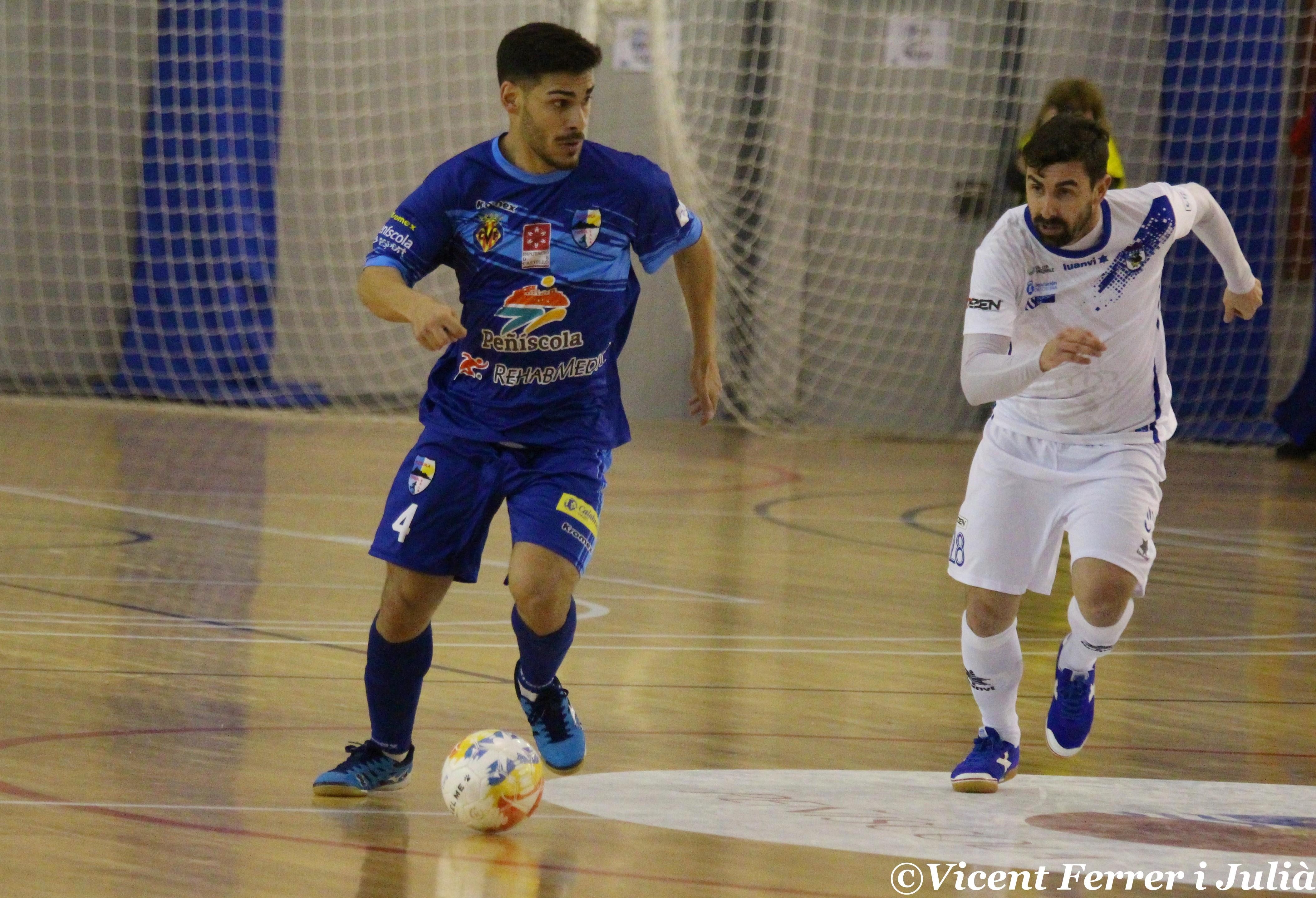 El Peníscola RehabMedic deixa perdre un avantatge de tres gols i empata davant del O Parrulo Ferrol