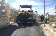 Càlig, finalitzen les feines de pavimentació al camí Regall