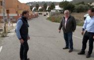 Peñíscola; visita a les obres d'instal·lació del nou enllumenat  en el camí Cervera 06/04/2018