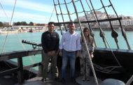 Peñíscola; Visita institucional a la Nau Victoria amarrada al port de Peñíscola 30-04-2018