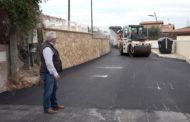 Peñíscola; Visita a les obres d'asfaltat  del Camí Cervera de Peñíscola 08-05-2018