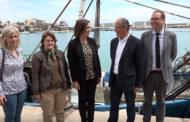 Benicarló; Visita del director general d'Obres Públiques al port de Benicarló 10-05-2018