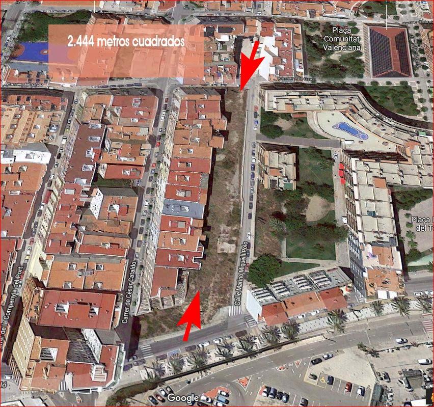 Benicarló, C's proposa utilitzar els terrenys de l'avinguda Marqués de Benicarló com a pàrquing públic