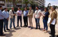 Alcossebre; El director general d'Aigües de la Generalitat Valenciana visita les obres de renovació del sanejament a Les Fonts d'Alcossebre 29-05-2018