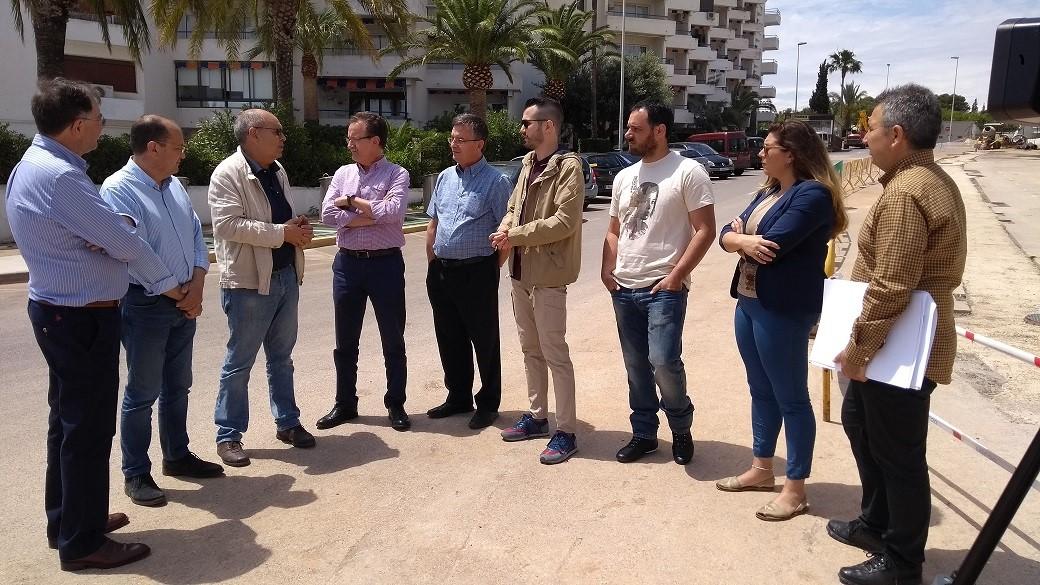 Alcalà, el director general de l'Aigua visita les obres renovació de la xarxa de sanejament a la zona de Les Fonts