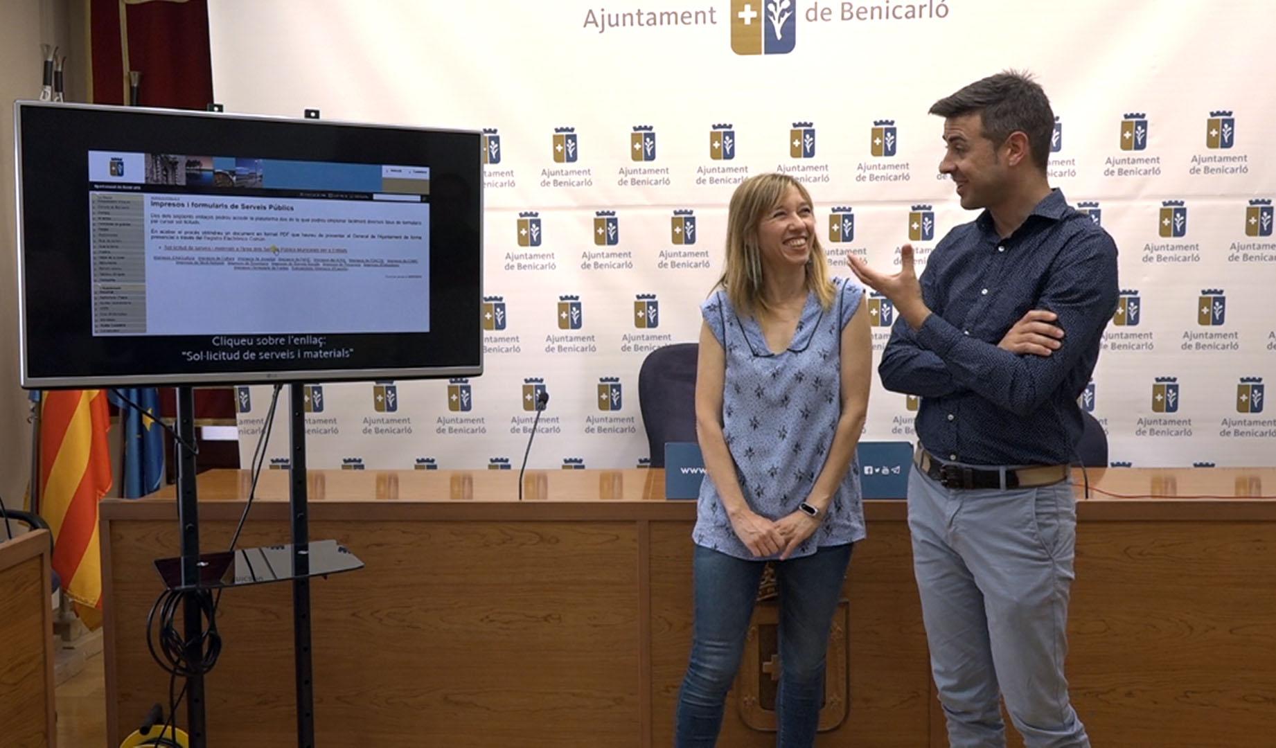 Benicarló presenta una nova aplicació informàtica per agilitzar la demanda de material a la Brigada Municipal