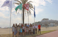 Peñíscola; Hissada de les banderes blaves i certificats  de qualitat de les platges nord i sud de Peñíscola 28-06-2018