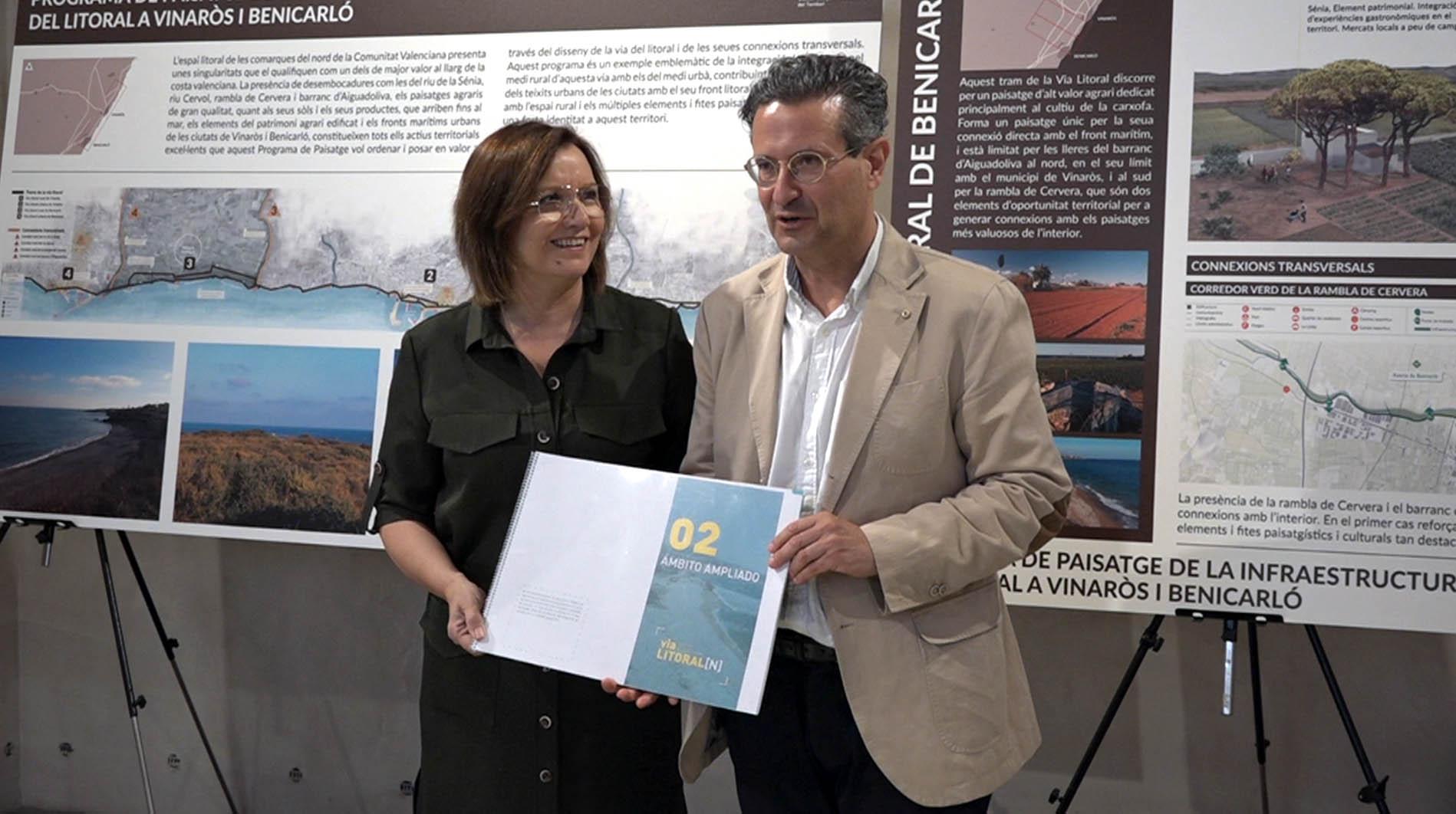 Benicarló exposa al Mucbe el projecte Programa Paisatge que es desenvoluparà a la costa Nord