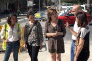 Benicarló; Visita a les obres de la plaça  de l'Estació de Benicarló 20-06-2018