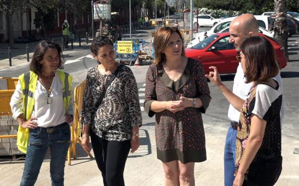 Benicarló, la plaça de l'Estació ja disposa del nou pàrquing, a més de la connexió amb l'avinguda Felip Klein