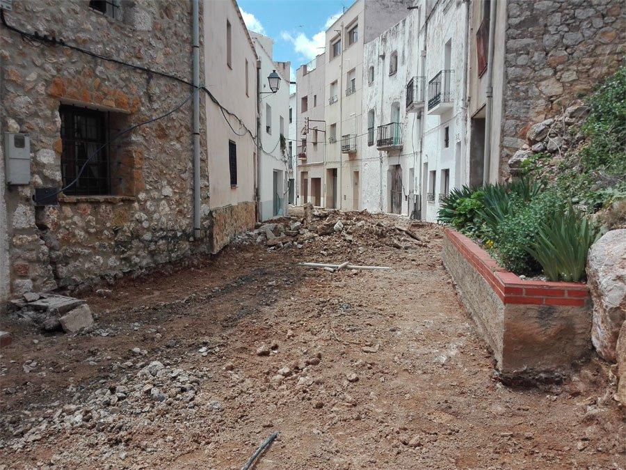 Rossell, comencen les obres de pavimentació al carrer La Bassa