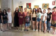 Benicarló; Inauguració de l'exposició dels treballs de final de curs dels alumnes de Cézanne Taller d'Art a l'Edifici Gòtic de Benicarló 12-07-2018
