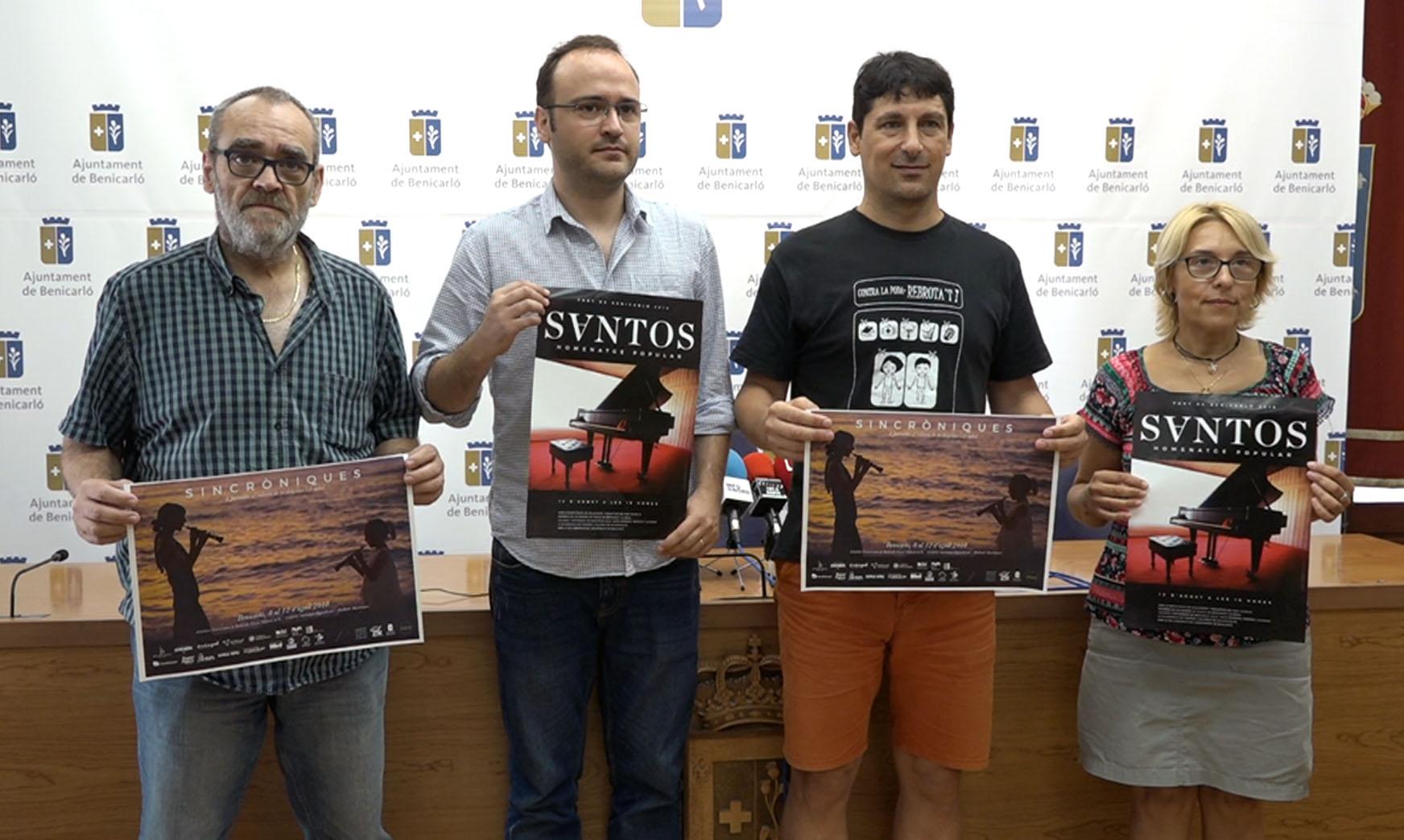 Benicarló acull les jornades Sincròniques amb concert i homenatge a Carlos Santos aquest diumenge