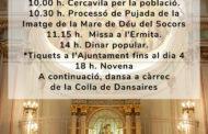 Càlig es prepara per celebrar el Dia de la Mare de Déu dels Socors