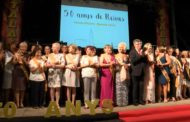 Rossell; Acte d'homenatge, a les 50 Reines de Festes de Rossell 12-08-2018
