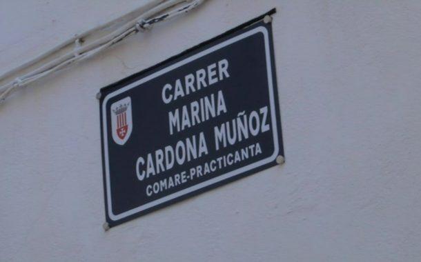 Rossell dedica un carrer a la veïna Marina Cardona