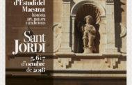 Sant Jordi acollirà del 5 al 7 d'octubre les 16es Jornades d'Estudis del Maestrat